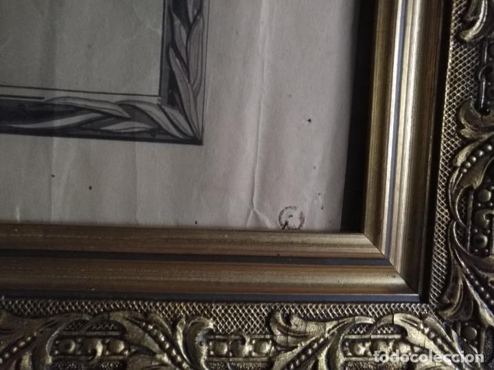 Carteles de Semana Santa: gran cartel grabado cristo del paño semana santa moclin granada marco madera dorada litografia anel - Foto 9 - 131000252