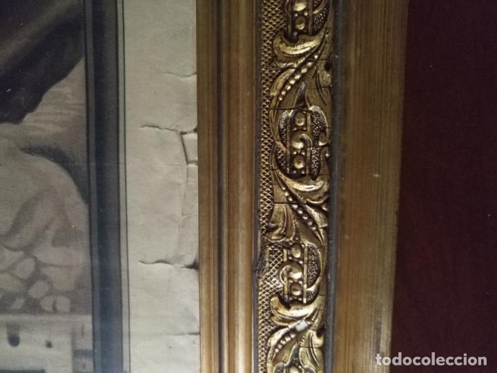 Carteles de Semana Santa: gran cartel grabado cristo del paño semana santa moclin granada marco madera dorada litografia anel - Foto 14 - 131000252