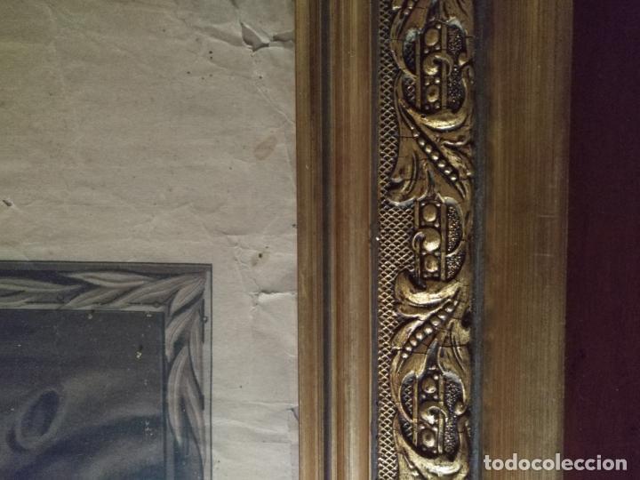 Carteles de Semana Santa: gran cartel grabado cristo del paño semana santa moclin granada marco madera dorada litografia anel - Foto 15 - 131000252