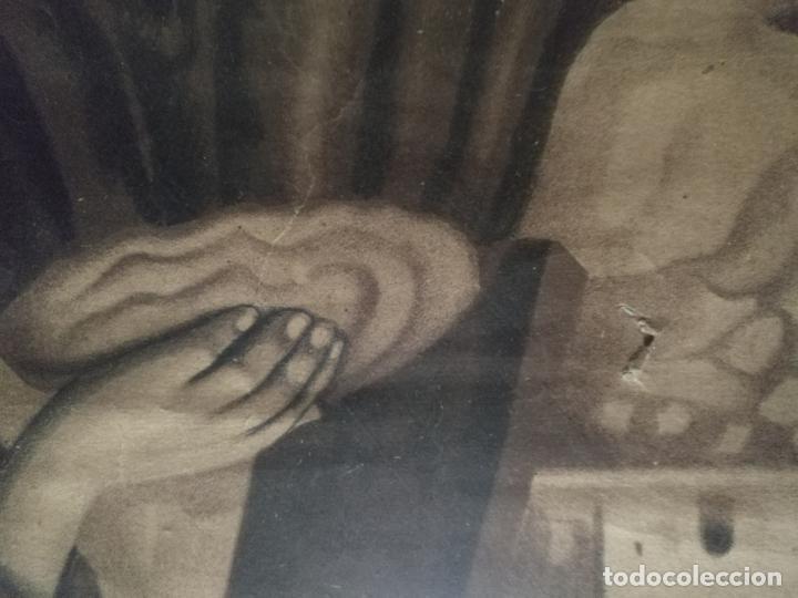 Carteles de Semana Santa: gran cartel grabado cristo del paño semana santa moclin granada marco madera dorada litografia anel - Foto 16 - 131000252