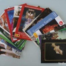 Carteles de Semana Santa: LOTE COLECCIÓN 20 PROGRAMAS ITINERARIOS DIFERENTES DE LA SEMANA SANTA MALAGA VEANSE UNO A UNO . Lote 131363606