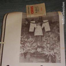 Carteles de Semana Santa: TOBARRA,ALBACETE. CARTEL SEMANA SANTA AÑO 1947 CON LA IMAGEN DEL CRISTO DE LA ANTIGUA. MIDE 67 X 48 . Lote 131908602