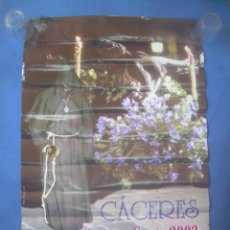 Carteles de Semana Santa: CARTEL CÁCERES SEMANA SANTA 2002. Lote 132957894