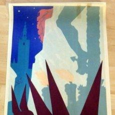 Carteles de Semana Santa: CARTEL SEMANA SANTA DE SEVILLA 1964 , ILUSTRADOR ANTONIO ABELARDO,45X68 CMS. Lote 133702906