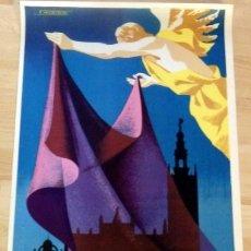 Carteles de Semana Santa: CARTEL DE LA SEMANA SANTA DE SEVILLA, 1965, 48X68CMS,ORIGINAL, REALIZADO POR MARISCAL. Lote 133703022