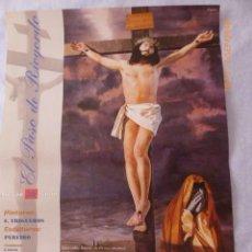 Carteles de Semana Santa: MALAGA CARTEL SEMANA SANTA RIOGORDO AÑO 1998, 88X48. Lote 134065610