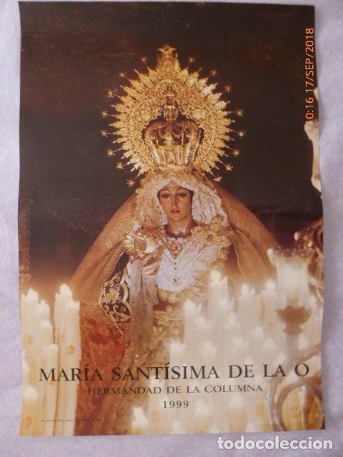 MALAGA, CARTEL MARIA SANTISIMA DE LA O, AÑO 1999, 48X34 (Coleccionismo - Carteles Gran Formato - Carteles Semana Santa)