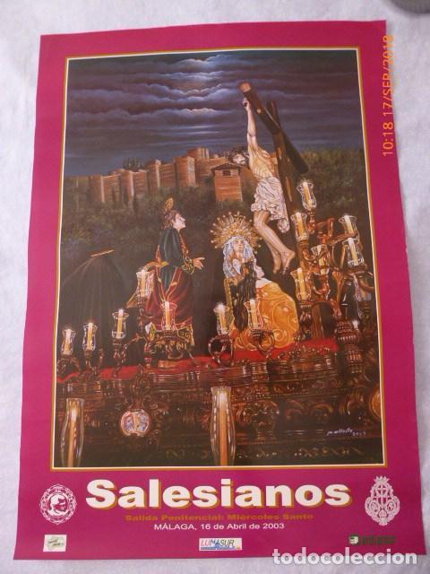 MALAGA, SEMANA SANTA, SALECIANOS 2003, 68X45 (Coleccionismo - Carteles Gran Formato - Carteles Semana Santa)