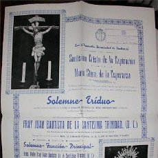 Carteles de Semana Santa: CARTEL DE CULTOS - COFRADÍA DE LA EXPIRACIÓN DE SAN FERNANDO (CÁDIZ) 1952. Lote 134871034