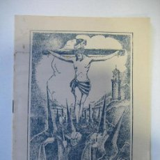 Carteles de Semana Santa: LIBRITO DE SEMANA SANTA DE FUENTE OBEJUNA 1955. CORDOBA. Lote 136265326