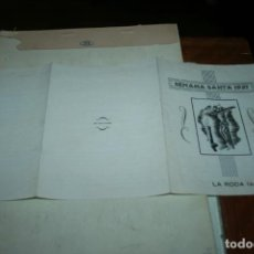 Carteles de Semana Santa: ALBACETE.SEMANA SANTA DE LA RODA TRIPTICO AÑO 1957. . Lote 137334378