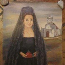 Carteles de Semana Santa: CARTEL SEMANA SANTA MÁLAGA 2001. RAFAEL DE INFANTES . Lote 138688786