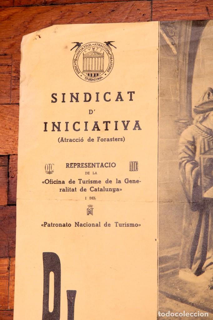 Carteles de Semana Santa: CARTELL - DIVENDRES SANT A TARRAGONA - 1935 - PROCéS DEL SANT ENTERRAMENT - Foto 2 - 140397058