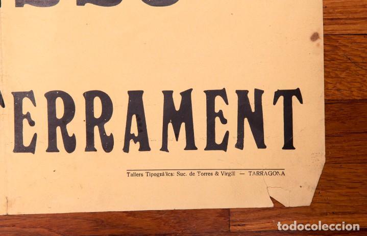 Carteles de Semana Santa: CARTELL - DIVENDRES SANT A TARRAGONA - 1935 - PROCéS DEL SANT ENTERRAMENT - Foto 3 - 140397058