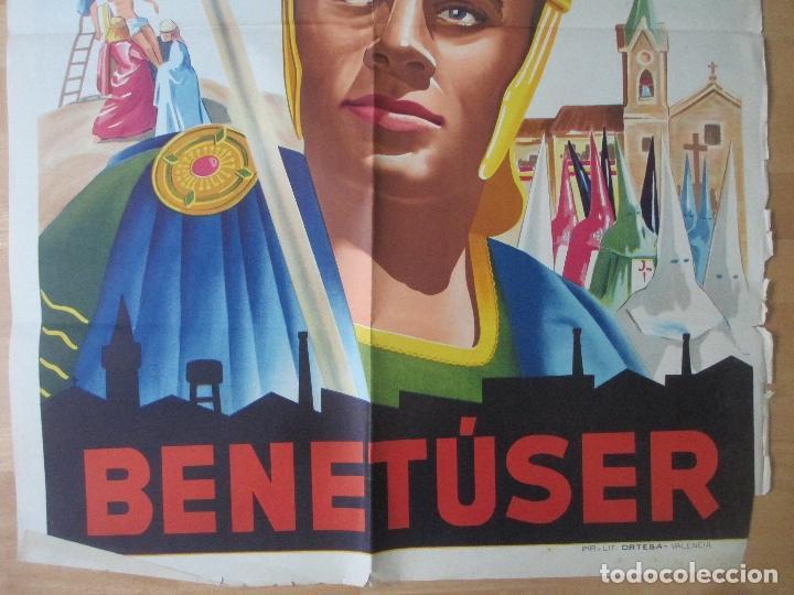 Carteles de Semana Santa: CARTEL SEMANA SANTA BENETUSER VALENCIA 1956 LITOGRAFIA ORIGINAL , SS17 - Foto 3 - 140890786