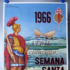 Carteles de Semana Santa: CARTEL SEMANA SANTA MARINERA - VALENCIA - AÑO 1966 - A. CABRERA. Lote 150257234