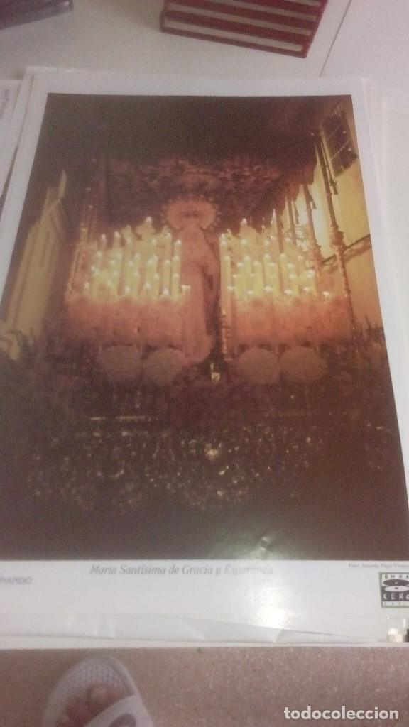 Carteles de Semana Santa: G-90VIS90 SEMANA SANTA ISLEÑA LOTE DE 38 LAMINAS CON LA CARPETA UNICO - Foto 8 - 154415670