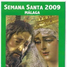Carteles de Semana Santa: -74384 ITINERARIO Y HORARIOS SEMANA SANTA DE MALAGA, AÑO 2009, PUBLICIDAD ALIMAT. Lote 155712726