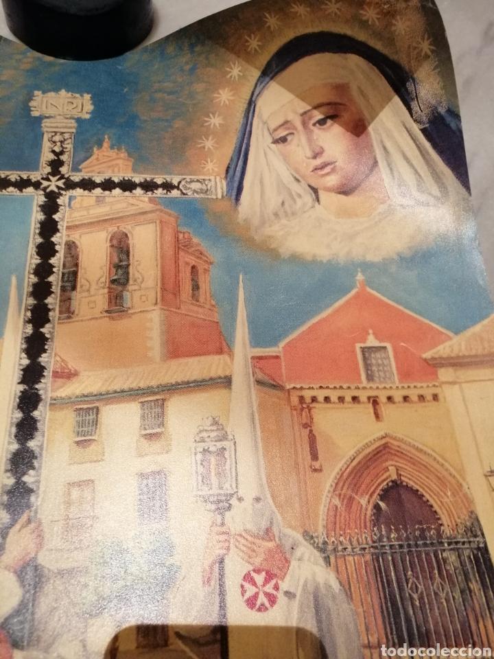 Carteles de Semana Santa: CARTEL CONMEMORATIVO III CENTENARIO HERMANDAD AMARGURA. SEVILLA. 1996 - Foto 3 - 162363064