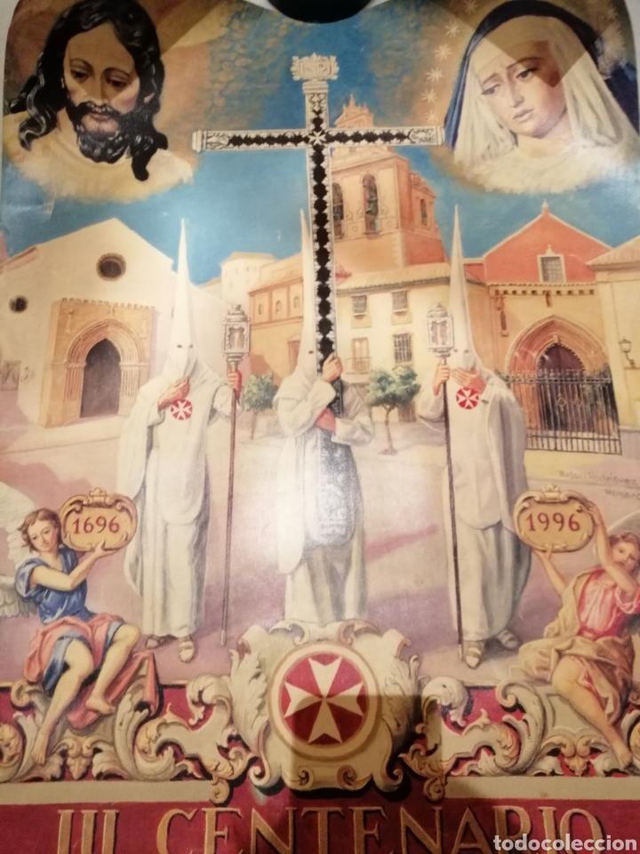 Carteles de Semana Santa: CARTEL CONMEMORATIVO III CENTENARIO HERMANDAD AMARGURA. SEVILLA. 1996 - Foto 4 - 162363064