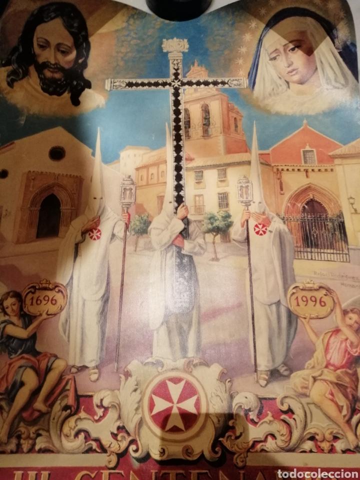 Carteles de Semana Santa: CARTEL CONMEMORATIVO III CENTENARIO HERMANDAD AMARGURA. SEVILLA. 1996 - Foto 5 - 162363064