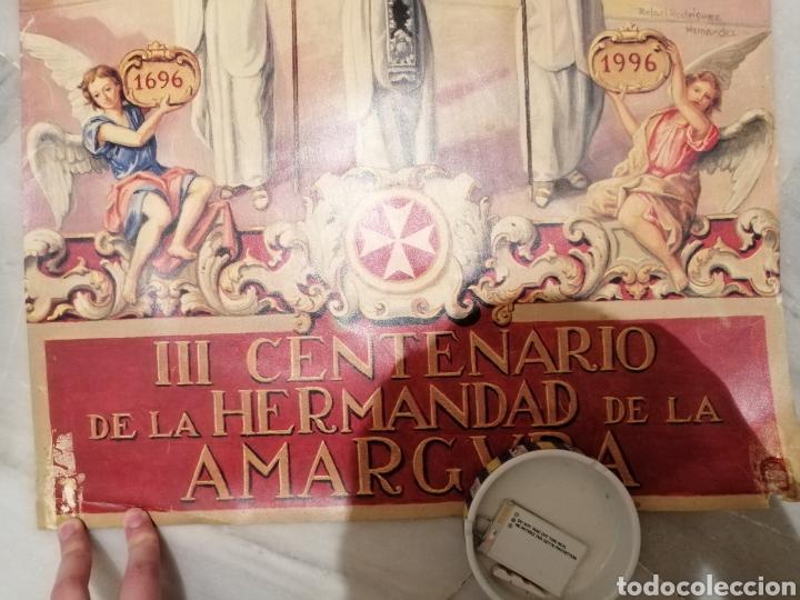 Carteles de Semana Santa: CARTEL CONMEMORATIVO III CENTENARIO HERMANDAD AMARGURA. SEVILLA. 1996 - Foto 6 - 162363064
