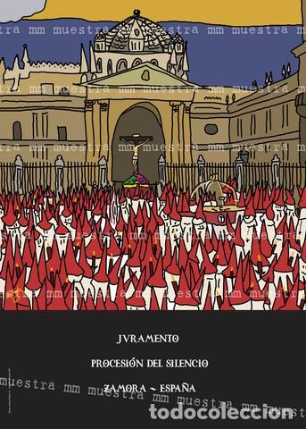 SEMANA SANTA ZAMORA POSTER SILENCIO 50X70 CM (Coleccionismo - Carteles Gran Formato - Carteles Semana Santa)