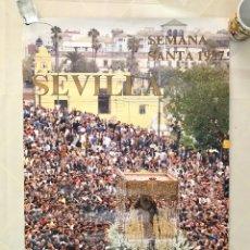 Carteles de Semana Santa: SEMANA SANTA SEVILLA.CARTEL CONSEJO COFRADÍAS, 1987. ESPERANZA DE TRIANA.. Lote 166297786
