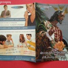 Carteles de Semana Santa: ITINERARIO Y HORARIO DE SEMANA SANTA EN MALAGA AÑO 2011 MAUDE. Lote 185979656