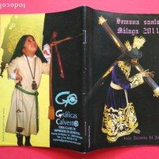 Carteles de Semana Santa: ITINERARIO Y HORARIO DE SEMANA SANTA EN MALAGA AÑO 2011 GRAFICAS CALVENT. Lote 171681923