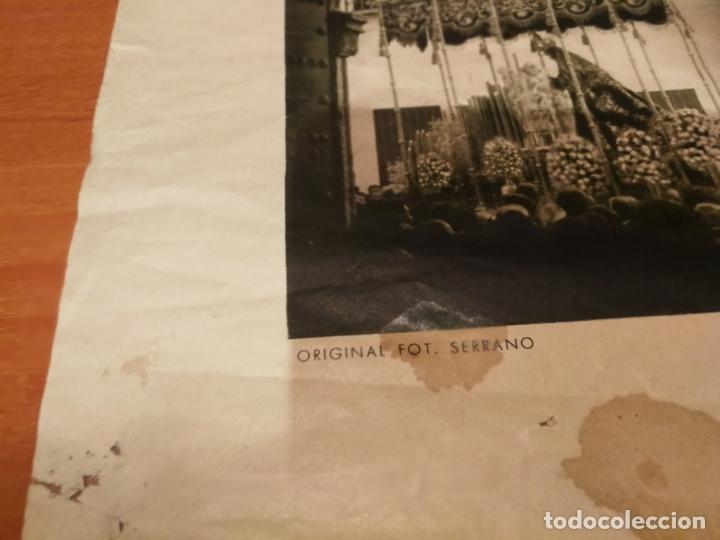Carteles de Semana Santa: CARTEL SEMANA SANTA SEVILLA 1944 ORIGINAL FOTOGRAFO SERRANO HUECOGRABADO FOURNIER VICTORIA - Foto 3 - 172963073