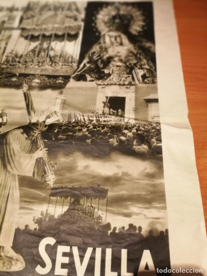 Carteles de Semana Santa: CARTEL SEMANA SANTA SEVILLA 1944 ORIGINAL FOTOGRAFO SERRANO HUECOGRABADO FOURNIER VICTORIA - Foto 4 - 172963073