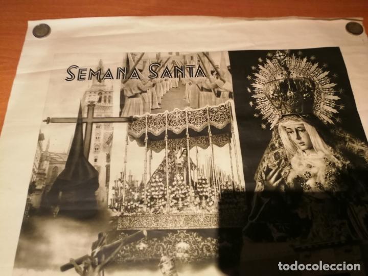 Carteles de Semana Santa: CARTEL SEMANA SANTA SEVILLA 1944 ORIGINAL FOTOGRAFO SERRANO HUECOGRABADO FOURNIER VICTORIA - Foto 5 - 172963073