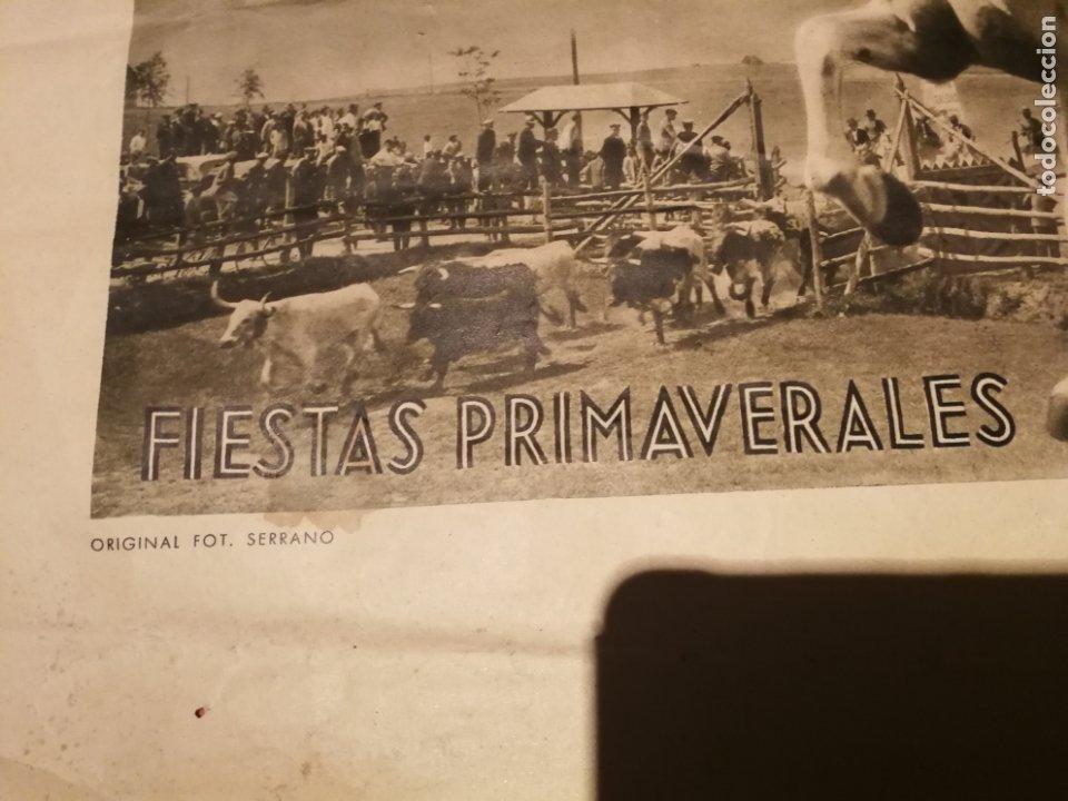 Carteles de Semana Santa: CARTEL FIESTA PRIMAVERALES SEVILLA 1944 ORIGINAL FOTOGRAFO SERRANO HUECOGRABADO FOURNIER VICTORIA - Foto 2 - 210805329