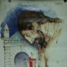 Carteles de Semana Santa: CARTEL. IV CENTENARIO CRISTO DE LOS MILAGROS. 1592-1992. SANLUCAR DE BARRAMEDA. MAIRELES.. Lote 175162350