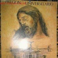 Carteles de Semana Santa: PREGON UNIVERSITARIO 1989 SEMANA SANTA SEVILLA. Lote 194877166
