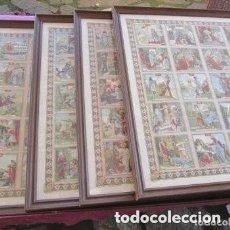 Carteles de Semana Santa: HISTORIA SAGRADA DE CALLEJA 4 CARTELES 120 CROMOS EN CUADROS DE 98 X 80 CM. Lote 176109614