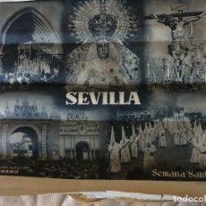 Carteles de Semana Santa: ANTIGUO CARTEL ORIGINAL DE SEVILLA - SEMANA SANTA - FOTO SERRANO - HUECOGRABADO FOURNIER -. Lote 177890980
