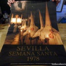 Carteles de Semana Santa: SEMANA SANTA SEVILLA, 1978, CARTEL ORIGINAL, 48X68 CMS. Lote 178656140