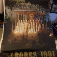 Carteles de Semana Santa: SEMANA SANTA SEVILLA, 1991, CARTEL TERTULIA COFRADE ALBORES, 50X70 CMS. Lote 179221607