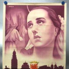 Carteles de Semana Santa: MURCIA - CARTEL DE SEMANA SANTA, AÑO 1953 - LITOGRAFIA - ILUSTRADOR: A. CARBONELL. Lote 179952131