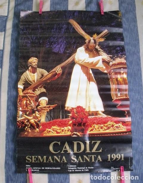 Carteles de Semana Santa: Cartel Semana Santa Cádiz 1991 - Foto 3 - 181983256