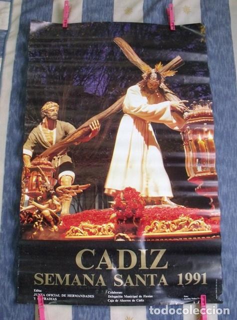 CARTEL SEMANA SANTA CÁDIZ 1991 (Coleccionismo - Carteles Gran Formato - Carteles Semana Santa)