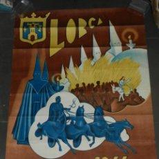 Carteles de Semana Santa: (M) CARTEL LORCA SEMANA SANTA 1944 - 98X68 CM, SEÑALES DE USO NORMALES. Lote 183374586