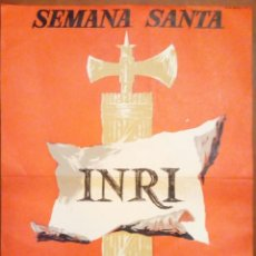 Carteles de Semana Santa: SEMANA SANTA REUS 1963 ANTIGUO CARTEL ORIGINAL ILUSTRADO EGEA 36 X 28 CM. Lote 183390157