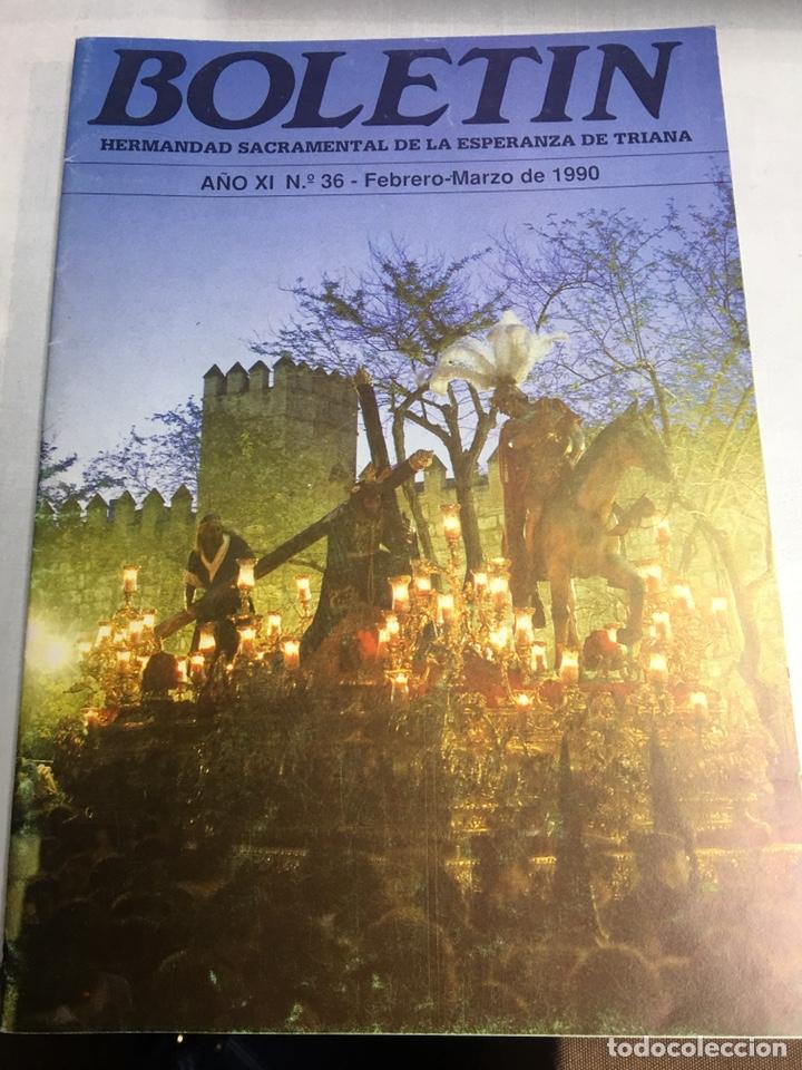 BOLETIN HERMANDAD SACRAMENTAL ESPERANZA DE TRIANA - SEVILLA - AÑO XI - Nº36 - 1990 (Coleccionismo - Carteles Gran Formato - Carteles Semana Santa)