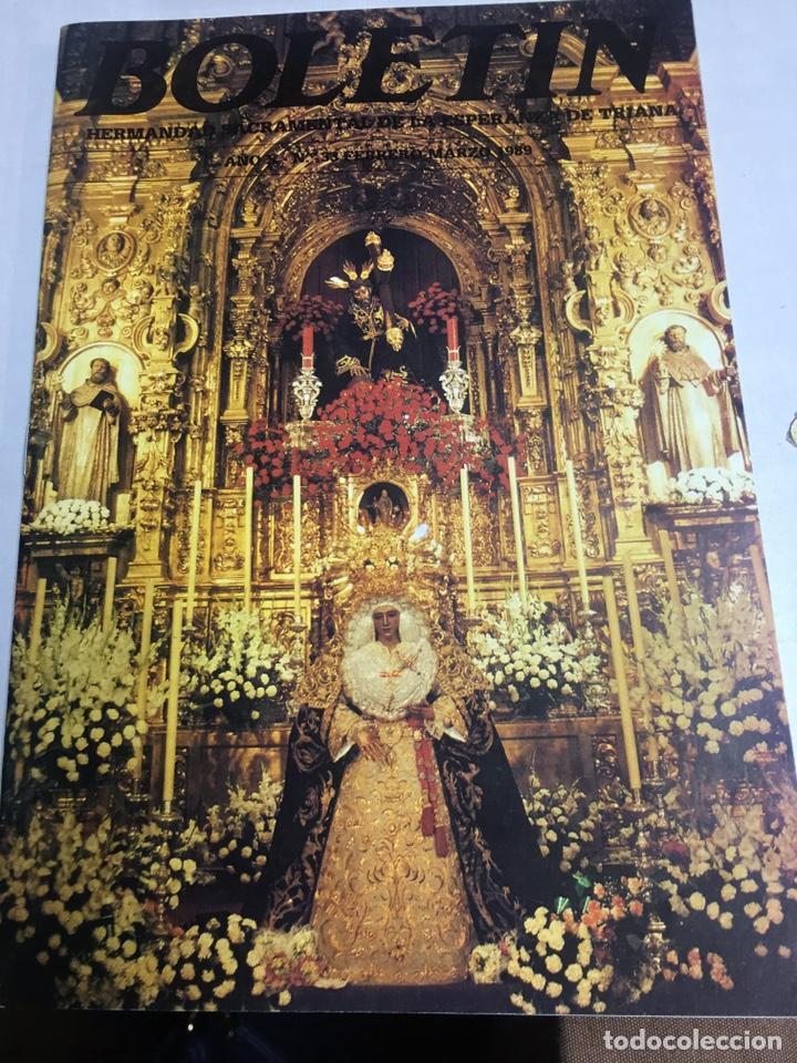 BOLETIN HERMANDAD SACRAMENTAL ESPERANZA DE TRIANA - SEVILLA - AÑO X - Nº33 - 1989 (Coleccionismo - Carteles Gran Formato - Carteles Semana Santa)