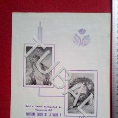 Carteles de Semana Santa: TUBAL HERMANDAD SALUD REFUGIO SAN BERNARDO 1962 ENVIO 1 € 2019 B14. Lote 187224905