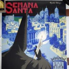 Carteles de Semana Santa: CARTEL SEMANA SANTA CADIZ 1963 RICARDO ANAYA LITOGRAFIA ORIGINAL. Lote 204733520