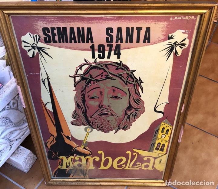 CARTEL DE SEMANA SANTA 1974, MARBELLA (Coleccionismo - Carteles Gran Formato - Carteles Semana Santa)